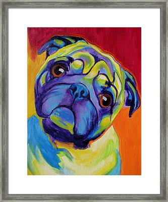 Pug - Lyle Framed Print by Alicia VanNoy Call