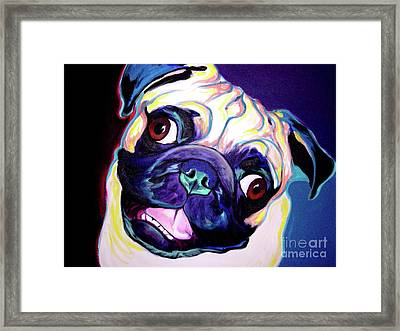 Pug - Rider Framed Print by Alicia VanNoy Call