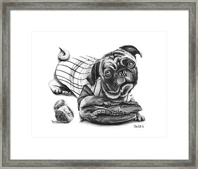 Pug Ruth  Framed Print by Peter Piatt