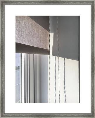 Pull Blind Framed Print by Tom Gowanlock