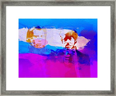 Pulp Fiction Framed Print by Naxart Studio