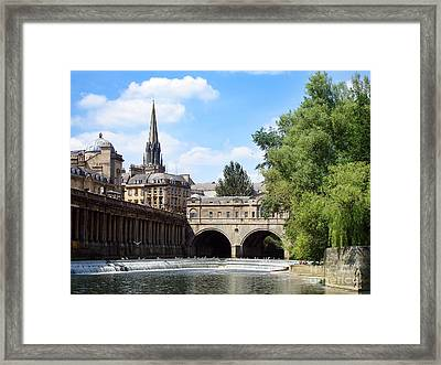 Pulteney Bridge And Weir Framed Print by Jane Rix