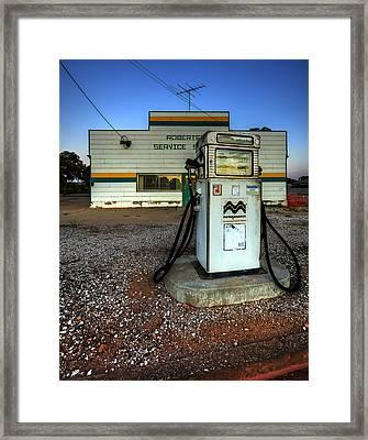 Pump At Sunset Framed Print by Wayne Sherriff