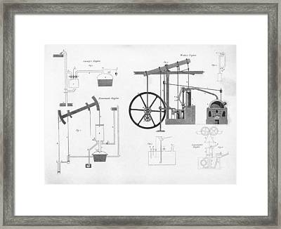 Pumping Engines, 19th Century Framed Print by Middle Temple Library