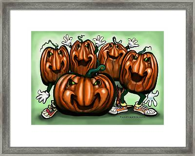 Pumpkin Party Framed Print by Kevin Middleton