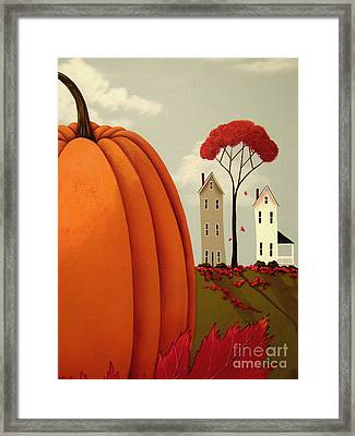 Pumpkin Valley Framed Print by Catherine Holman