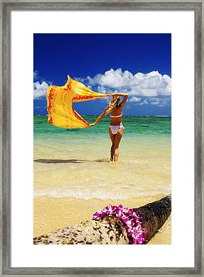 Punaluu Beach Vacation Framed Print by Tomas del Amo - Printscapes