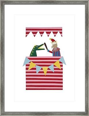 Punch And Judy Framed Print by Isobel Barber