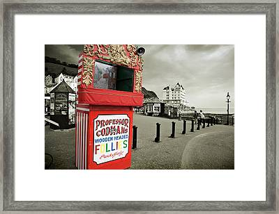 Punch And Judy Theatre On Llandudno Promenade Framed Print by Mal Bray