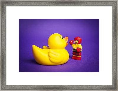 Punchy Framed Print by Samuel Whitton