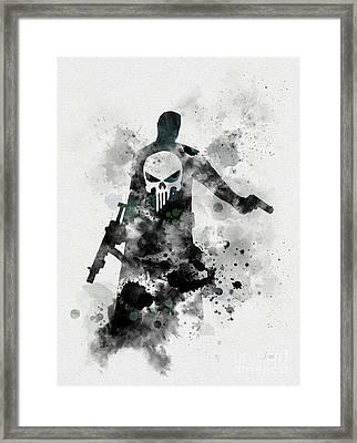 Punisher Framed Print by Rebecca Jenkins