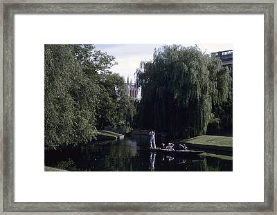 Punters Glide Past Trinity College Framed Print by Taylor S. Kennedy