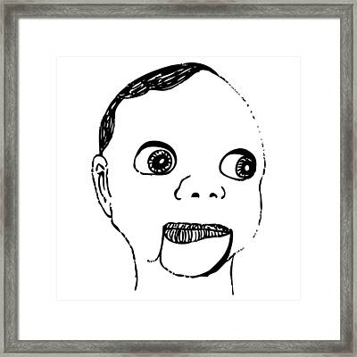 Puppet Head Framed Print by Karl Addison