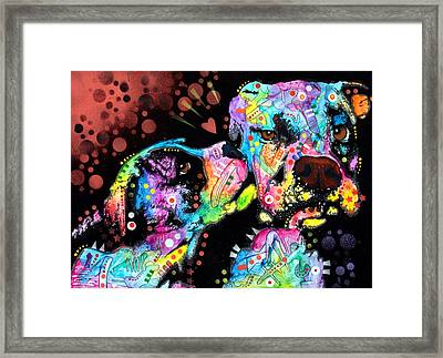 Puppy Love Framed Print by Dean Russo