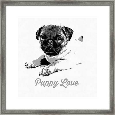 Puppy Love Framed Print by Edward Fielding