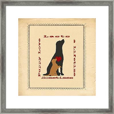 Puppy Love Labrador Retriever Framed Print by Jak of Arts Photography