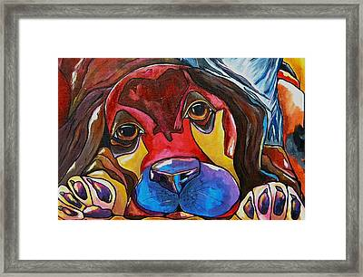 Puppy Love Framed Print by Patti Schermerhorn