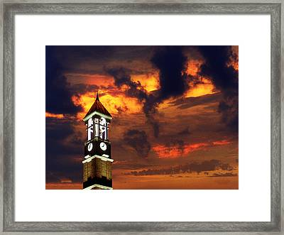 Purdue Bell Tower Framed Print by Purdue University