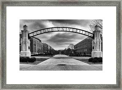 Purdue Entrance Sign Framed Print by Coby Cooper