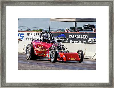 Pure Adrenaline Framed Print by Bill Gallagher
