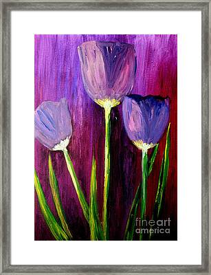 Purely Purple  Framed Print by Julie Lueders