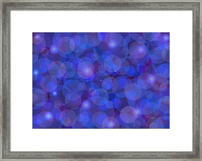 Purple And Blue Abstract Framed Print by Frank Tschakert