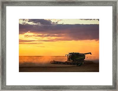 Purple And Orange Framed Print by Todd Klassy