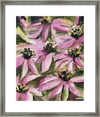 Purple Coneflowers Framed Print by Beverly Brown