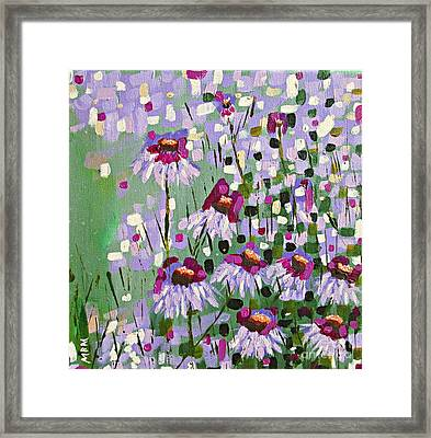 Purple Coneflowers Framed Print by Mary Mirabal