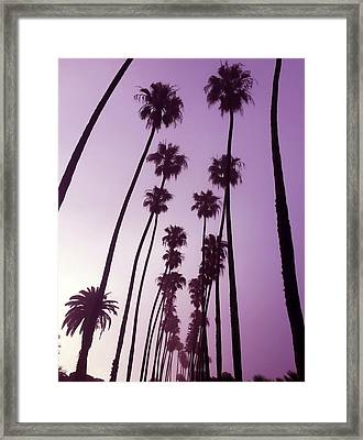 Purple Dawn Framed Print by Art Block Collections