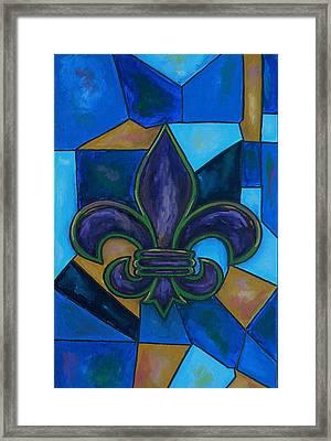 Purple Fleur De Lis Framed Print by Patti Schermerhorn