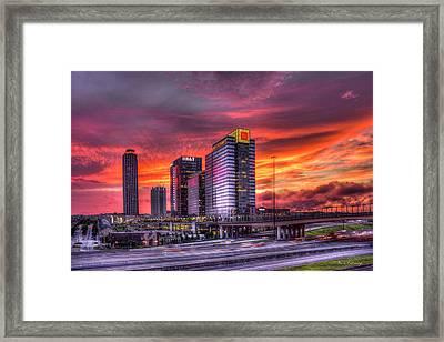 Purple Haze Atlanta Atlantic Station Framed Print by Reid Callaway