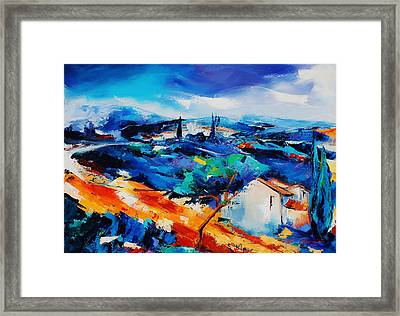 Purple Hills Framed Print by Elise Palmigiani