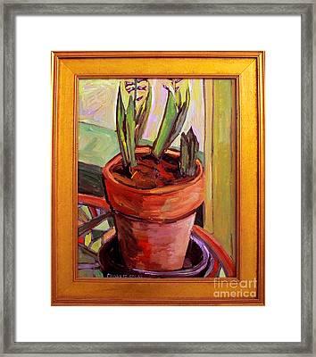 Purple Hyacinths Frame Incl Framed Print by Charlie Spear