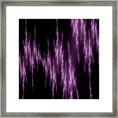 Purple Lightening Framed Print by Becky Herrera