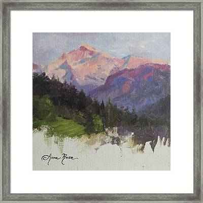 Purple Majesty Plein Air Study Framed Print by Anna Rose Bain