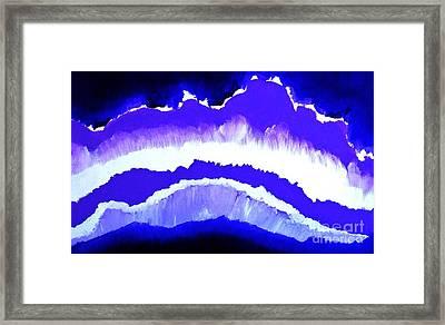 Purple Mountains Majesty Framed Print by Marsha Heiken