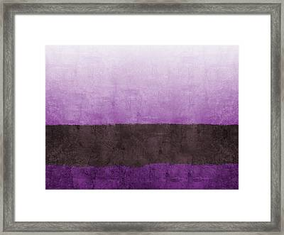 Purple On The Horizon- Art By Linda Woods Framed Print by Linda Woods