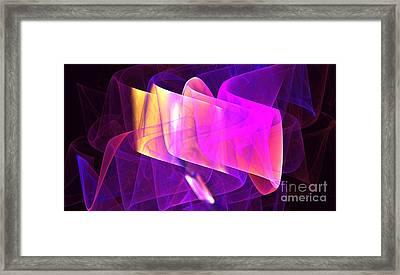 Purple Organza Framed Print by Kim Sy Ok