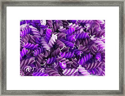 Purple Pasta Framed Print by D Plinth