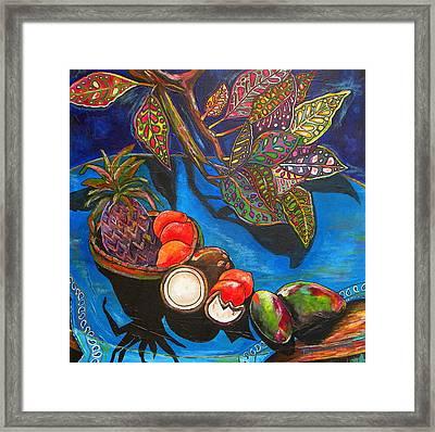 Purple Pineapple Framed Print by Patti Schermerhorn