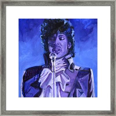 Purple Rain Framed Print by Donna Tuten