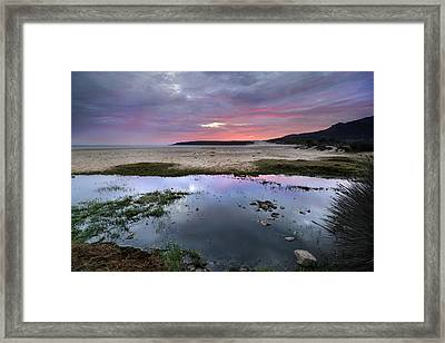 Purple Sky Framed Print by Guido Montanes Castillo