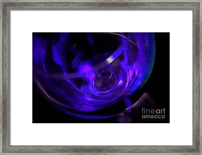 Purple Wine Framed Print by Krissy Katsimbras