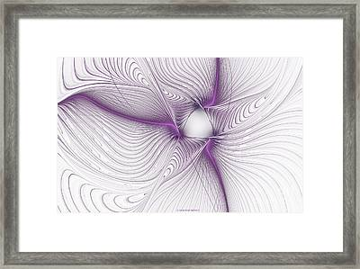 Purplish Framed Print by Deborah Benoit
