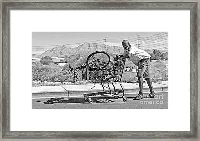 Shopping Cart Framed Print featuring the photograph Pushing Shadows by Joe Jake Pratt