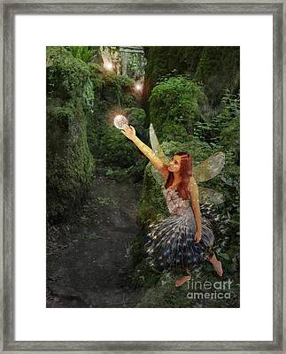 Puzzlewood Fairy Framed Print by Patricia Ridlon