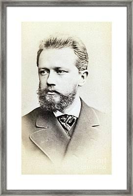 Pyotr Ilyich Tchaikovsky, Russian Framed Print by Science Source