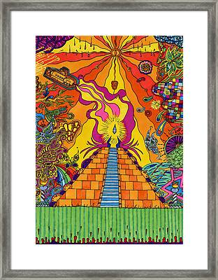 Pyramid Framed Print by Evan Purcell