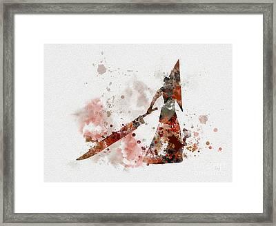 Pyramid Head Framed Print by Rebecca Jenkins